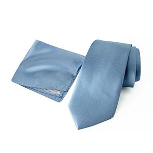 spring notion, steel blue, blue, hanky, neck ties, men, accessories, satin, microfiber, polyester