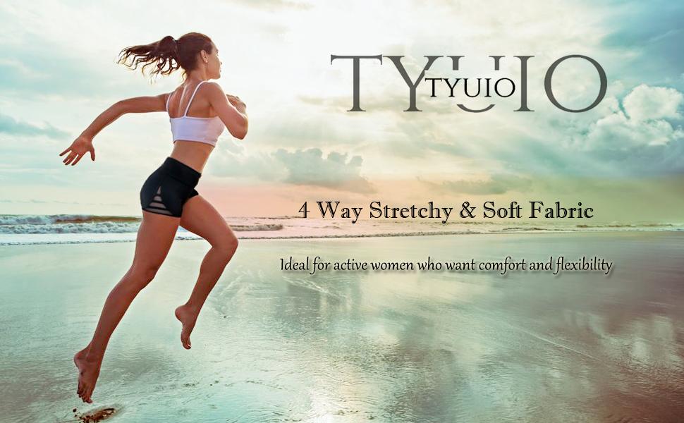Yoga Shorts for Women Tummy Control 4 Way Stretch Jogging Cycling Shorts