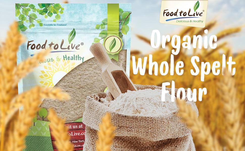 food to live, spelt flour