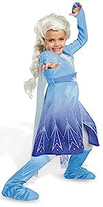 Elsa Act 2 hero princess blue dress blonde wig
