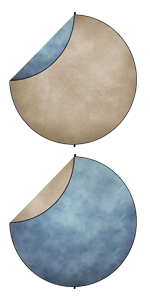tan blue Collapsible Backdrop