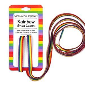rainbow shoe laces for gay pride