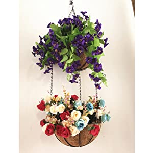 plant outdoor garden for pots hanging plants pot planter planters indoor flower decorations 10 baske
