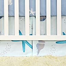 crib skirt with ocean animal