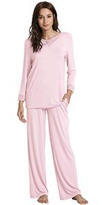 Long Sleeve Sleepwear Laced Pajama Set S-4XL