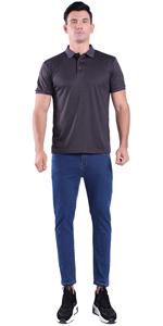grey mens polo shirts