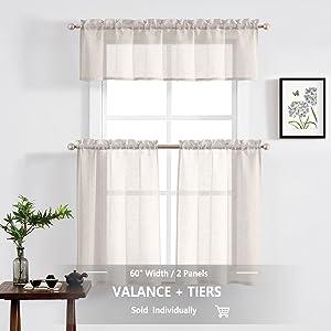 linen tier curtains 36 inch door bathroom laundry room kid's room travel trailer