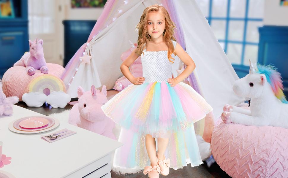 unicorn birthday dress for girls