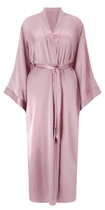 long silk robe women