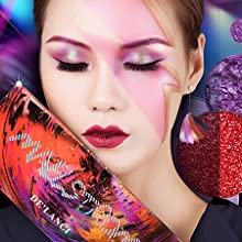 glitter Red Eyeshadow Palette Afflano Highly Pigmented Matte Shimmer Eye Shadow Palettes