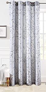 Harper ikat pattern window curtain