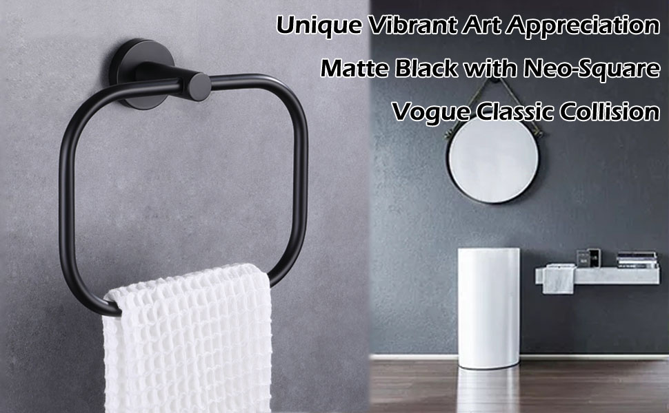 Side View of Towel Ring with Text Description