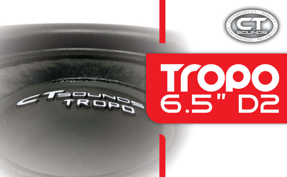 CT Sounds Tropo 6.5 Inch Dual 2 ohm Subwoofer 200W RMS 1200W Max