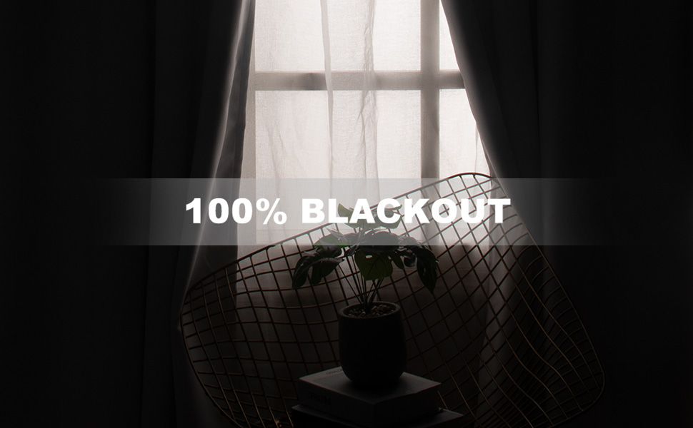 100 blackout curtains for living room