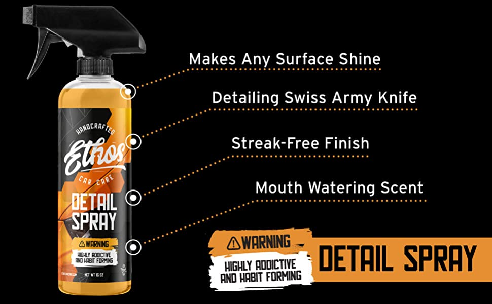 Ethos Car Care Automotive Detail Spray Surface Shine Streak Free