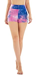 High Waist Yoga Shorts Side Pockets