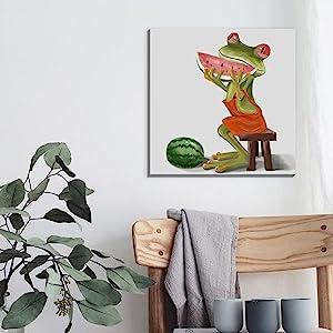 funny frog wall art humor animal picture wall decor
