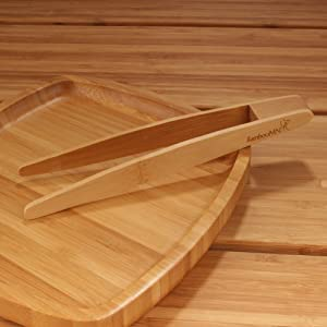 a tongs on plate