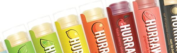 HURRAW Organic Vegan Cruelty Free Non GMO Gluten Free All Natural Luxury Tinted Cherry Lip Balm