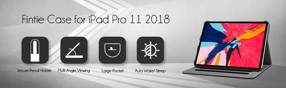 """Fintie iPad Pro 11"""" 2018 Multi Angle Folio Cover"""
