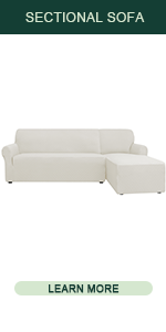 CHUN YI Rhombus L-Shaped Sectional Couch Cover