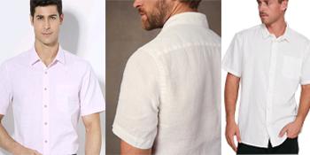 men's linen short sleeve shirt