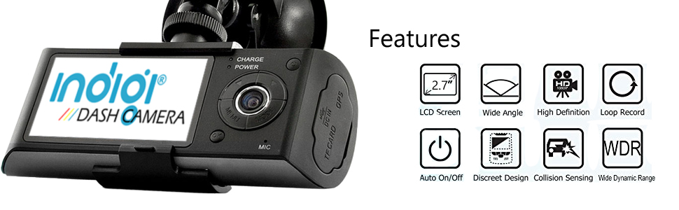R300 dashboard camera features