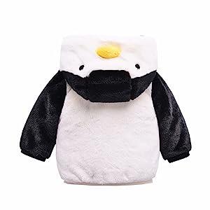 企鹅外套背面图
