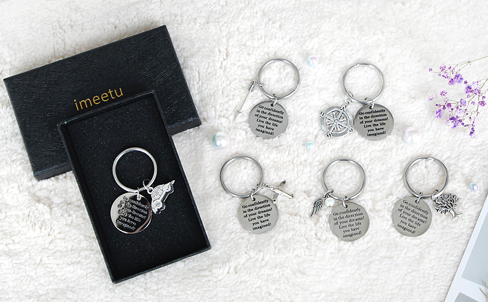 Keychain for Friends, Stainless Steel Keyring as Christmas Gift