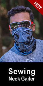 Cooling Neck Gaiter 12+ Ways To Wears, Face Mask, UPF 50