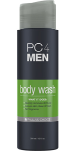 Fragrance free body wash for men and shampoo for men that cleanses, replenishing the skin's moisture