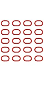 0.8'' oval ring buckles