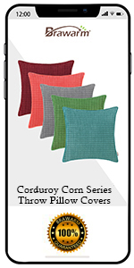 Corduroy Corn Throw Pillow Covers