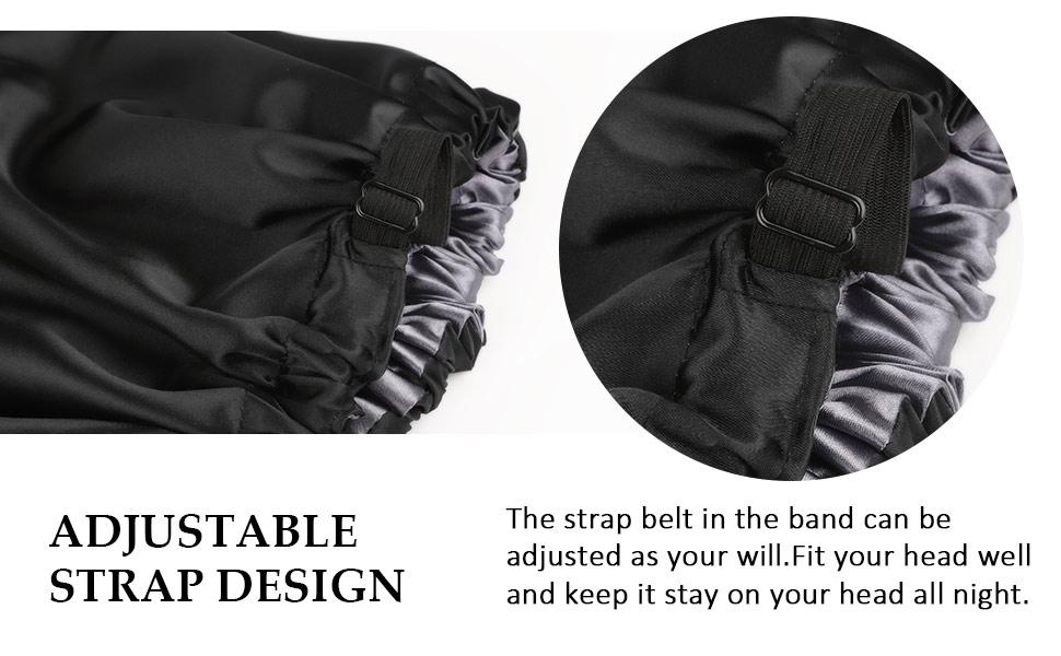 adjustable satin lined bonnet