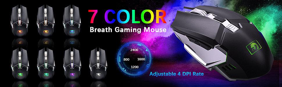 RAINBOW BREATH GAMING MOUSE