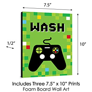 Game Zone Kids Bathroom Rules Wall Art