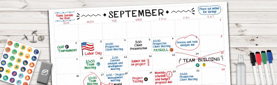 Jumbo Dry Erase Monthly Calendar