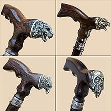 unique animal head canes