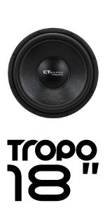 CT Sounds Tropo 18 inch Car Audio subwoofer