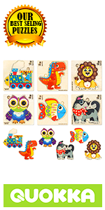 Wooden Wood Toddler Kids Puzzles Ages 1-2 Years 1 2 3 Old Toddlers Shapes Jigsaw Simple Toddlers