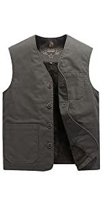 Men's Casual Lightweight Outdoor Travel Fishing Vest Sleeveless Jacket Vest
