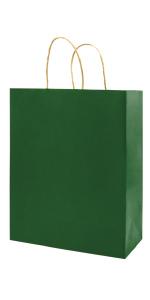 Medium Green 8*4.75*10 inch 100Pcs Kraft Bags