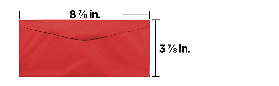red #9 business colored envelope