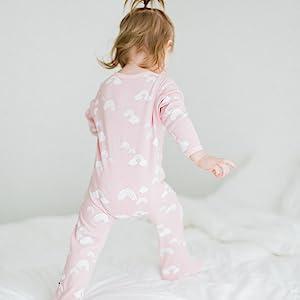 babysoy zipper footie one piece, sleeper with foot