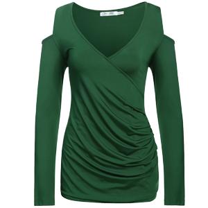 Dark Green Tunic T-Shirt Blouse Shirt