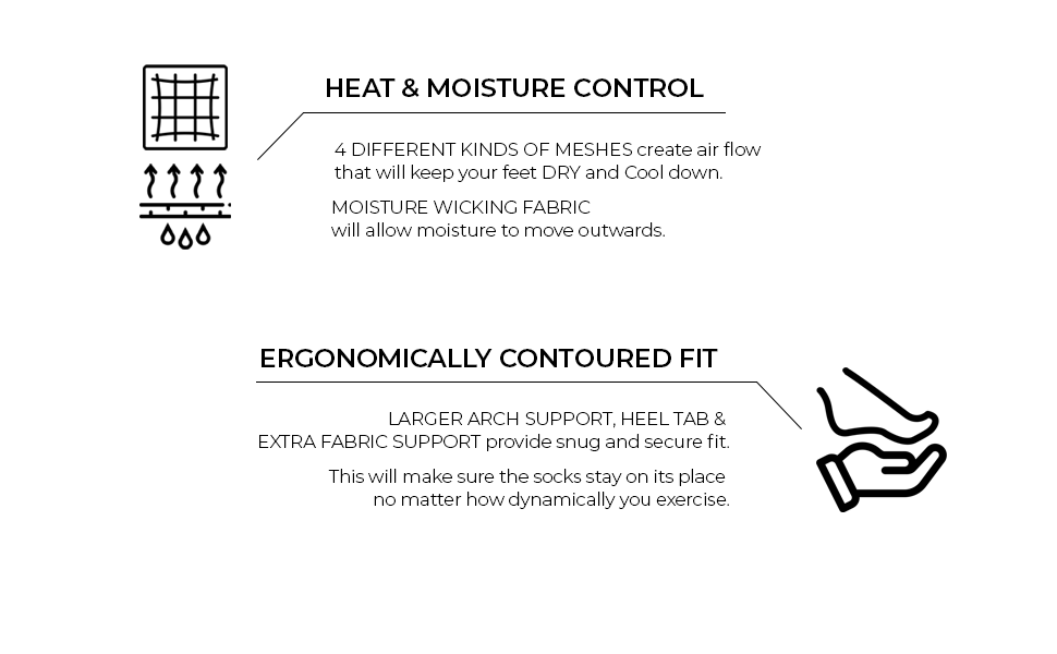 meshes arch support heat moisture control heel tab