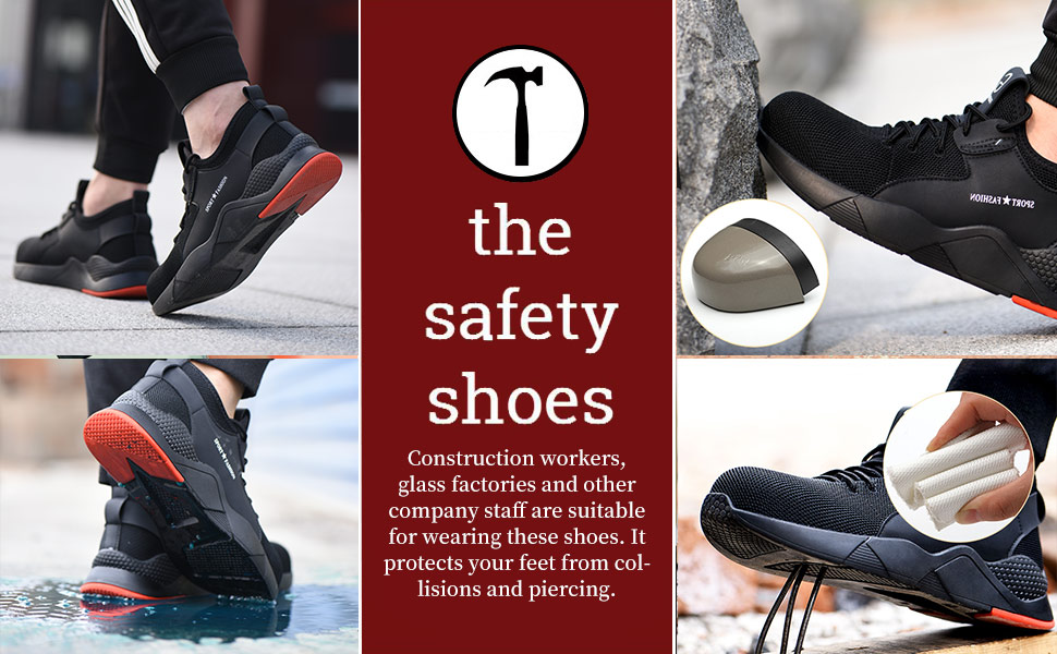 womens mens steel toe shoes work shoes