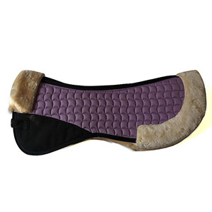Faux Fur/Sheepskin Horse Half Pads-Purple