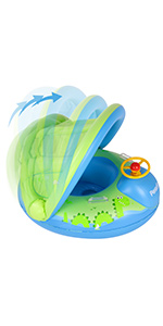 baby swimming ring with canopy water toys