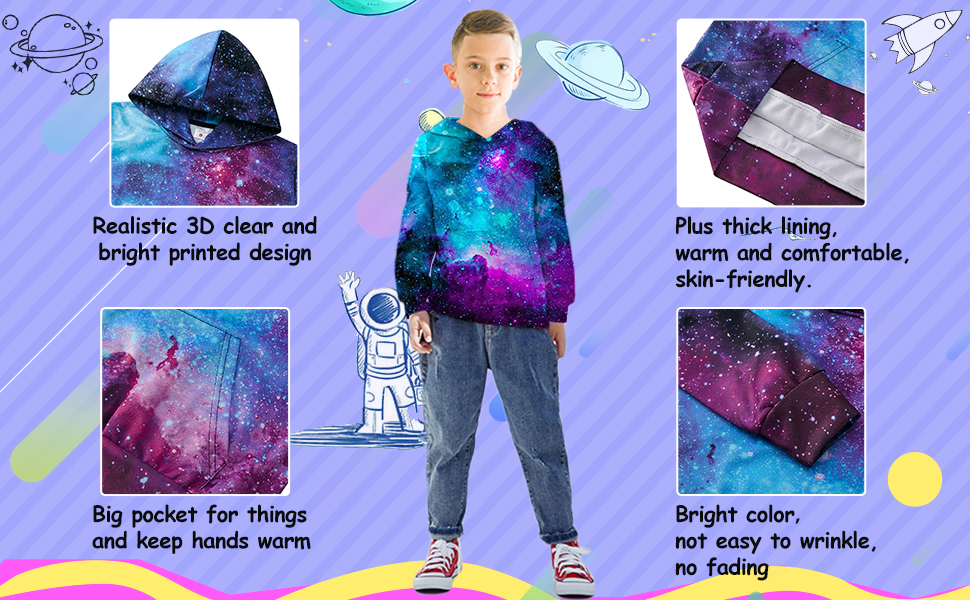 galaxy kids hoodies